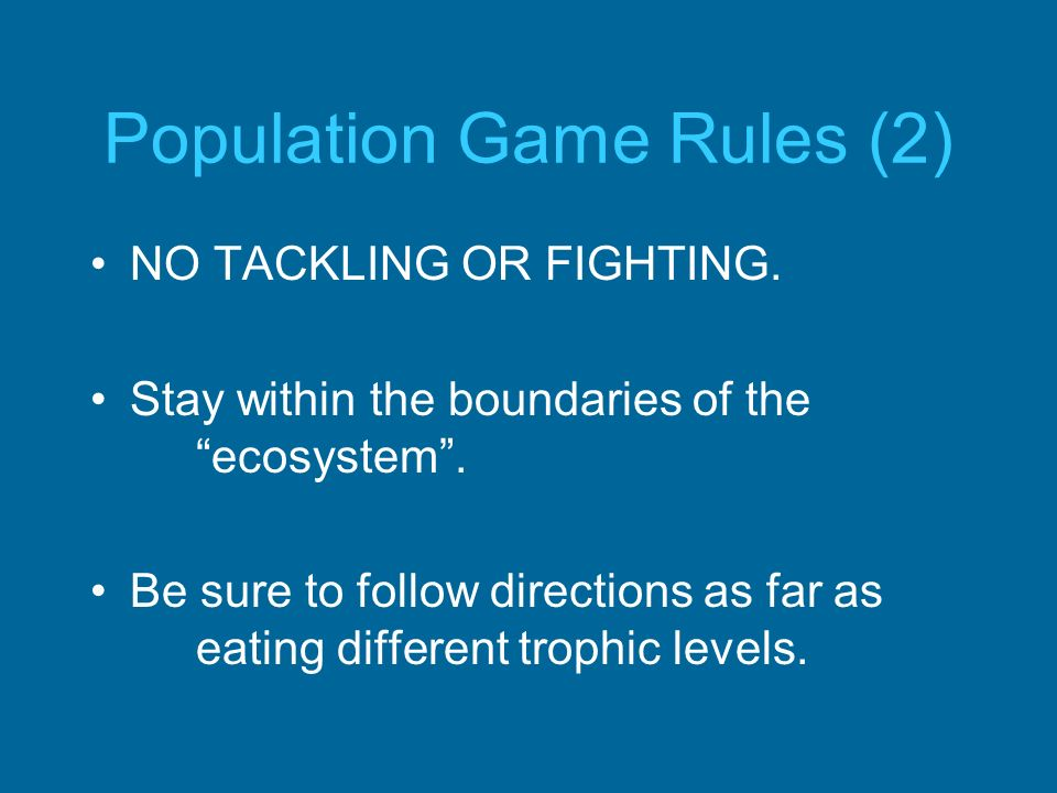 Population Game Rules (2)