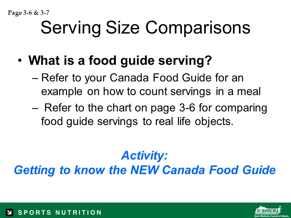 Sport nutrition level ppt download for Serving size of fish