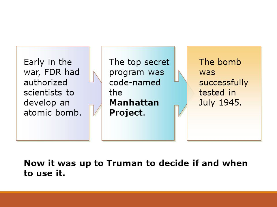 The top secret program was code-named the Manhattan Project.