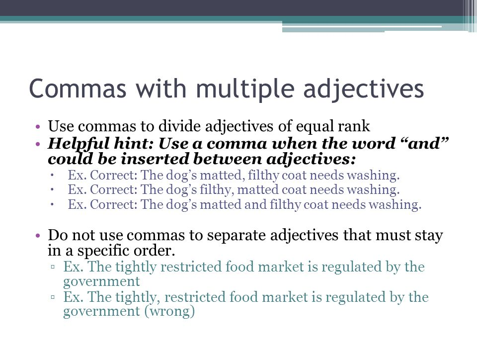 Commas in Lists (Grammar Lesson)