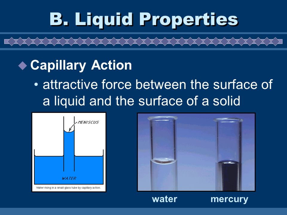 B. Liquid Properties Capillary Action