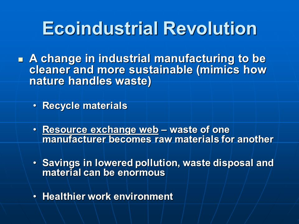Ecoindustrial Revolution