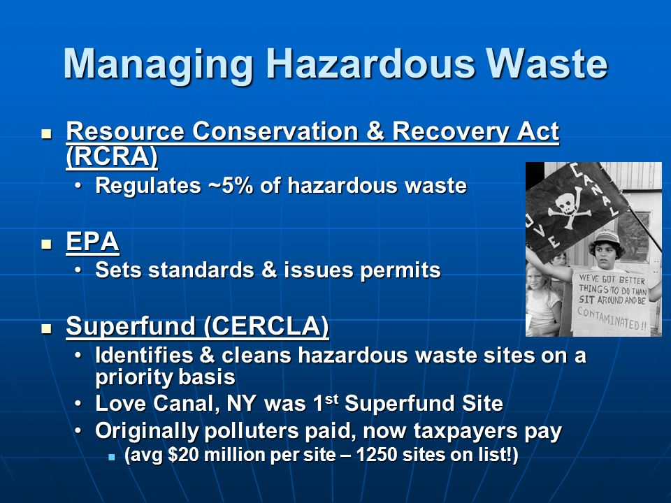Managing Hazardous Waste