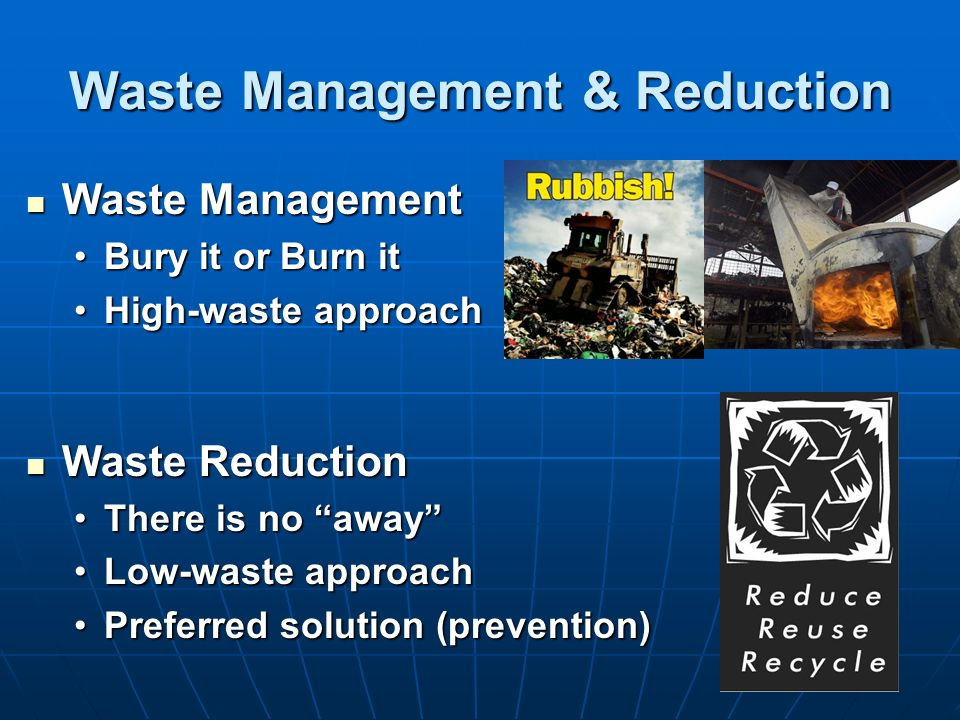 Waste Management & Reduction