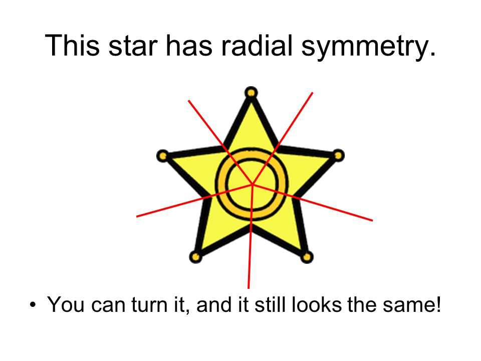 This star has radial symmetry.