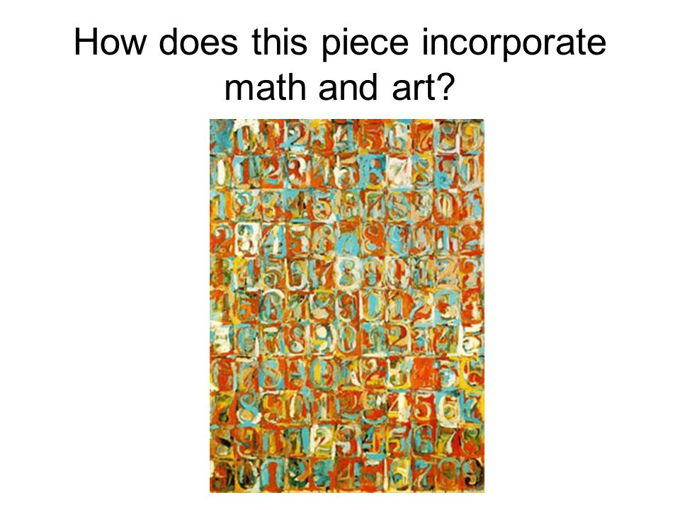 How does this piece incorporate math and art