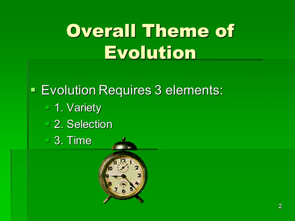 Overall Theme of Evolution
