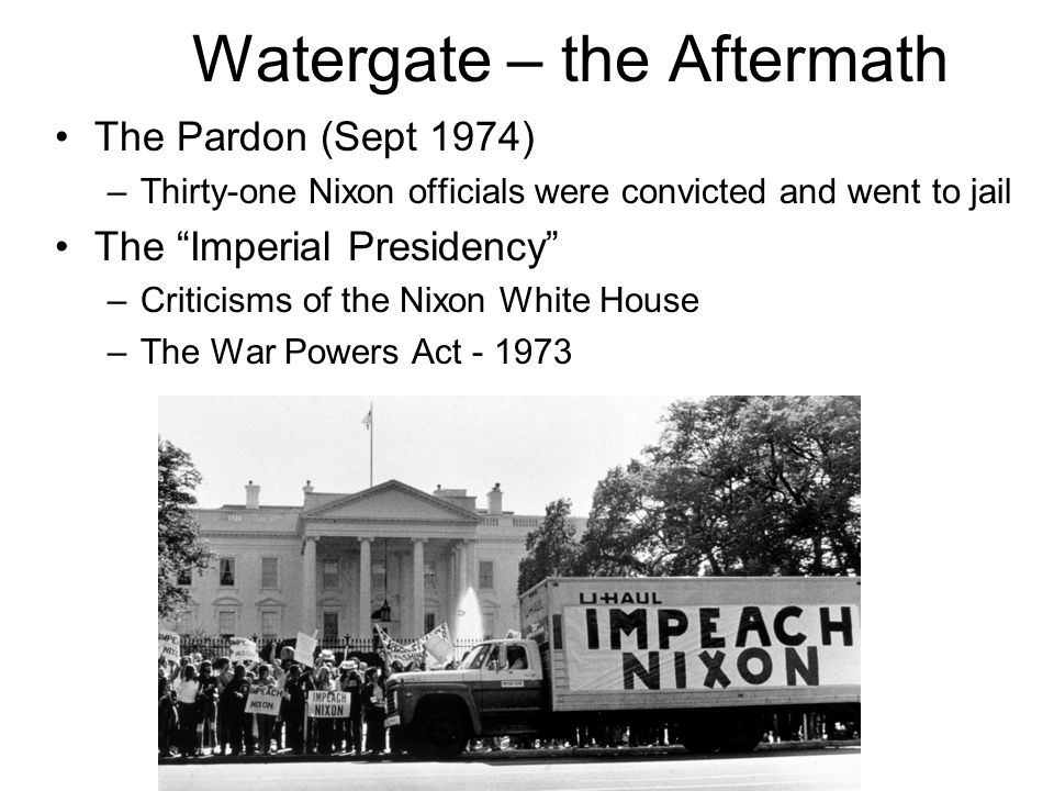 Watergate – the Aftermath