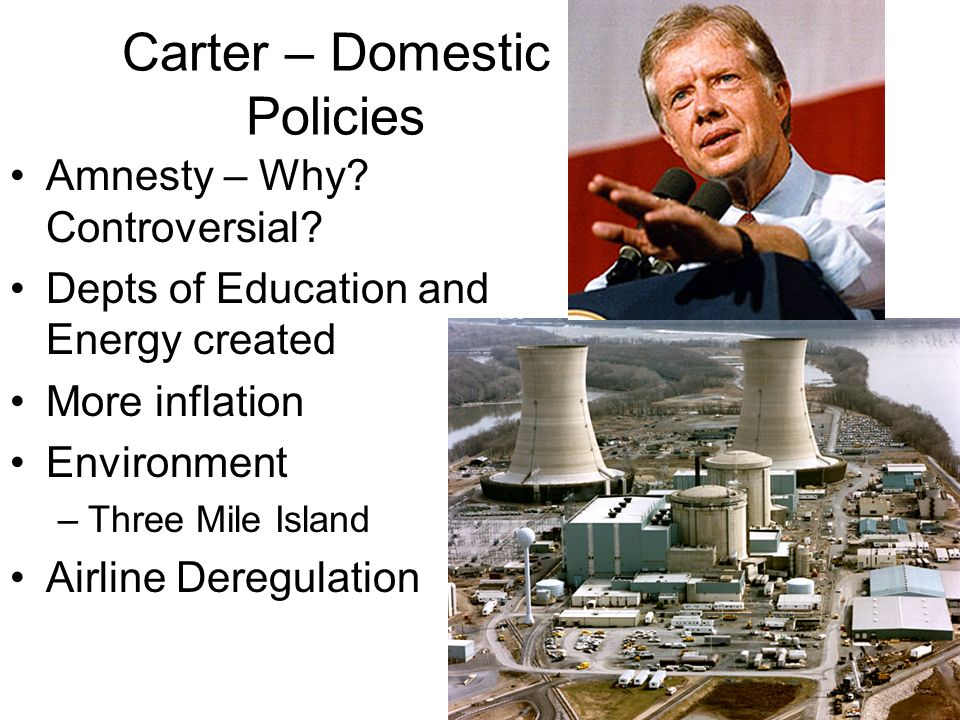 Carter – Domestic Policies