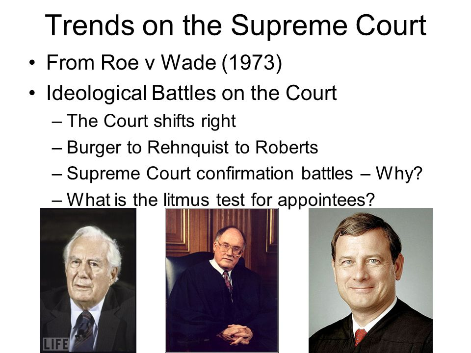 Trends on the Supreme Court