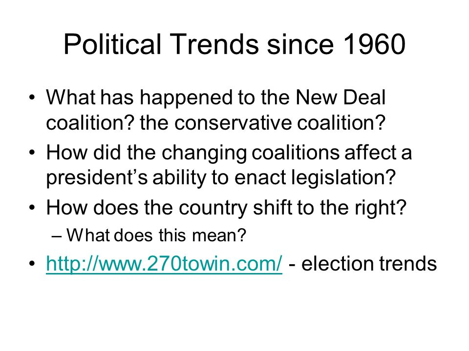 Political Trends since 1960