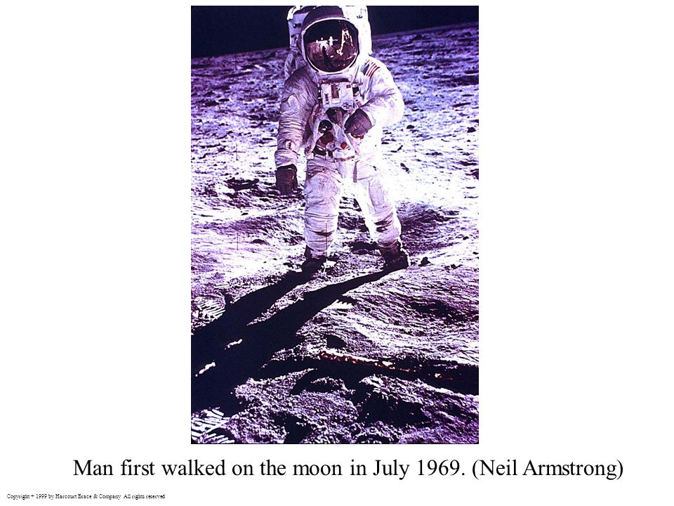 Man first walked on the moon in July 1969. (Neil Armstrong)