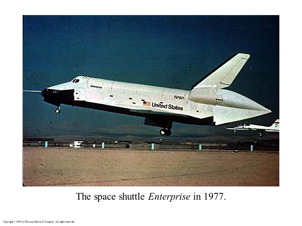 The space shuttle Enterprise in 1977.