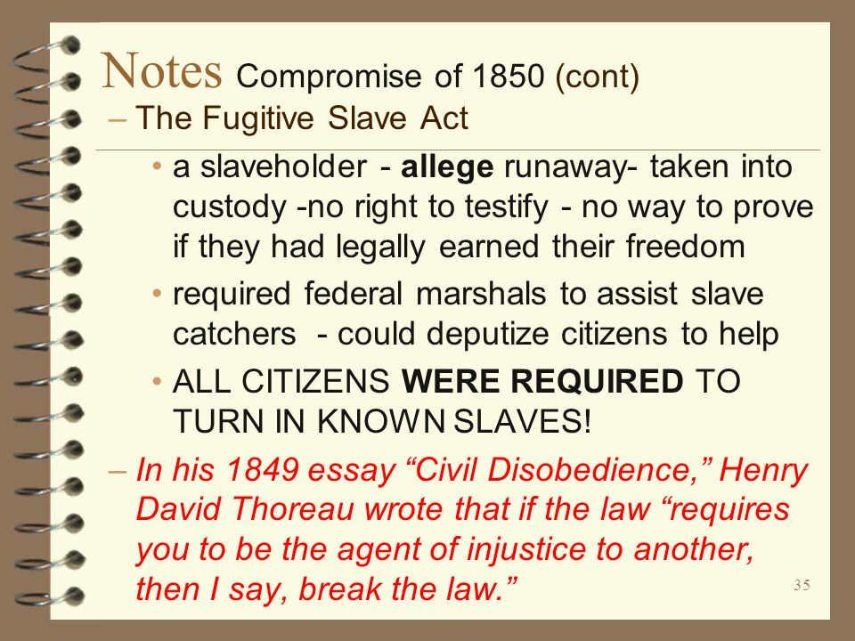 Africa & Fugitive Slave Act (1850)