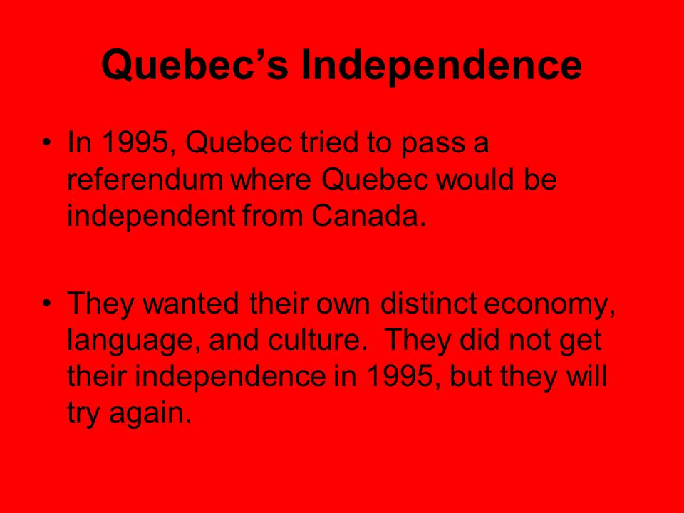 Quebec's Independence
