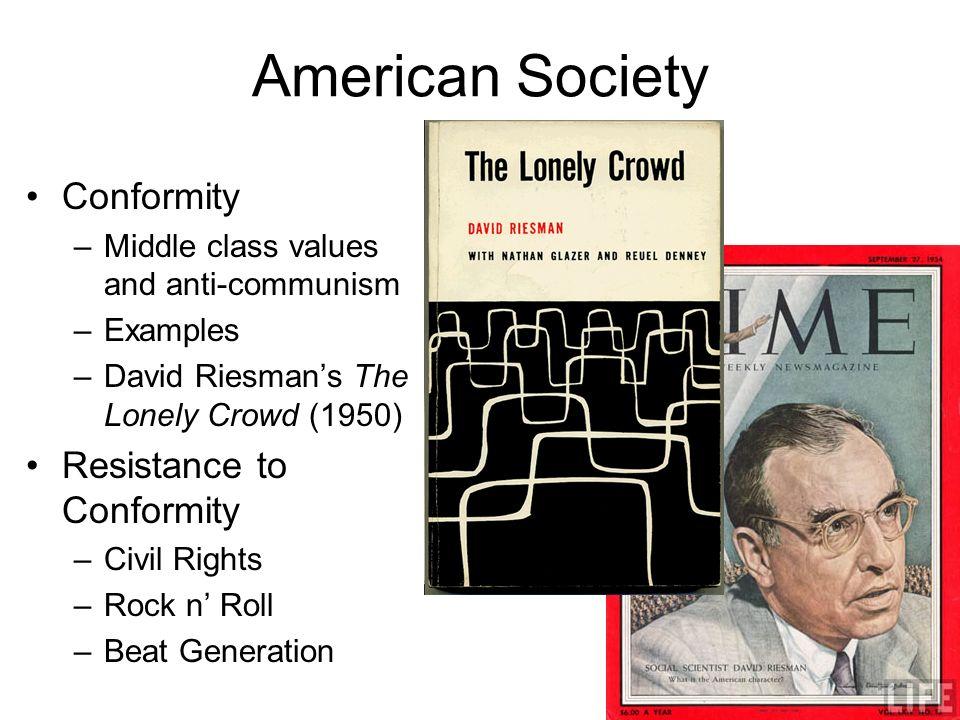 American Society Conformity Resistance to Conformity