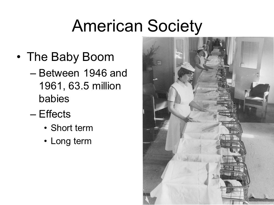 American Society The Baby Boom