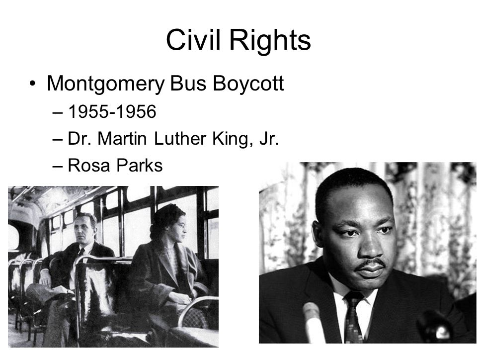 Civil Rights Montgomery Bus Boycott 1955-1956