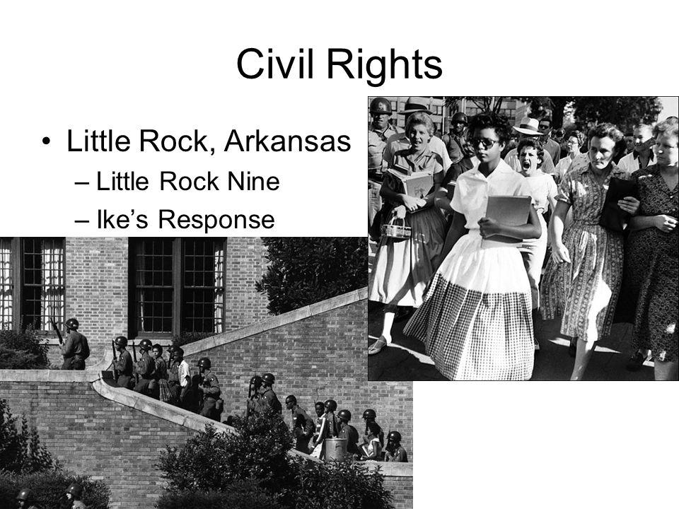 Civil Rights Little Rock, Arkansas Little Rock Nine Ike's Response