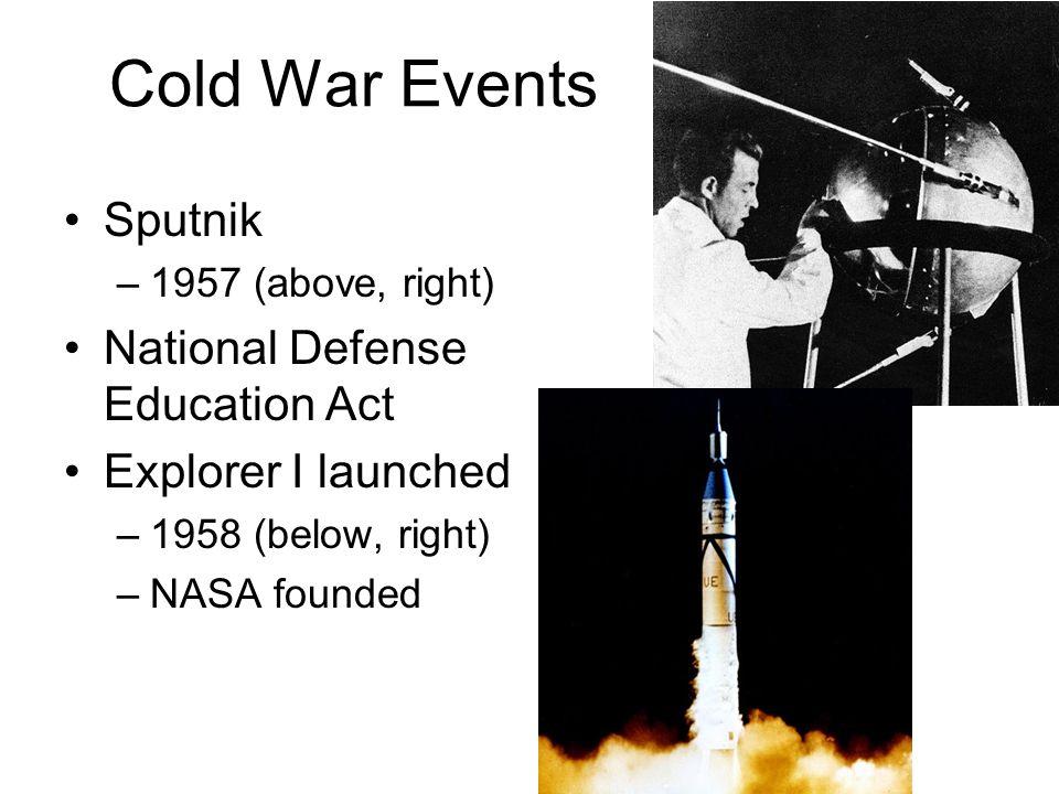 Cold War Events Sputnik National Defense Education Act