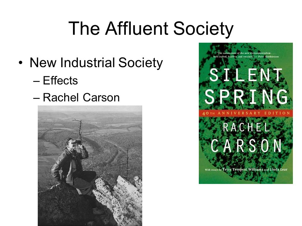 The Affluent Society New Industrial Society Effects Rachel Carson
