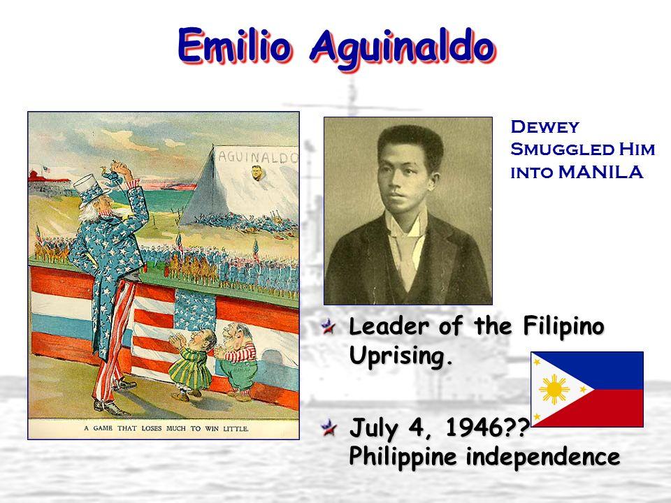 Emilio Aguinaldo July 4, 1946 Philippine independence