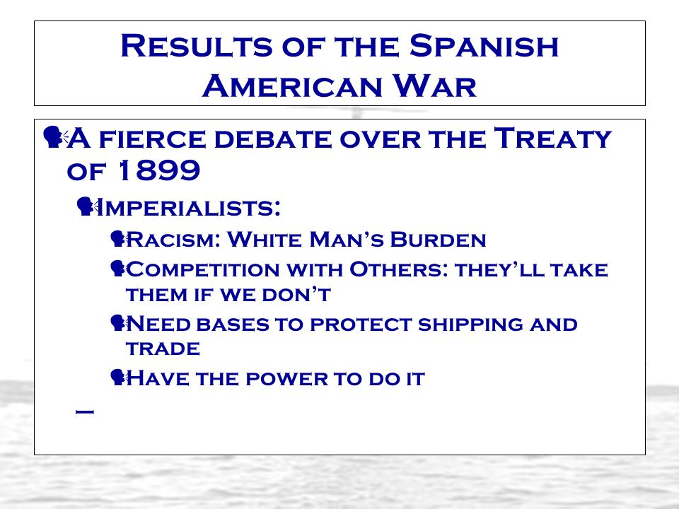 Results of the Spanish American War