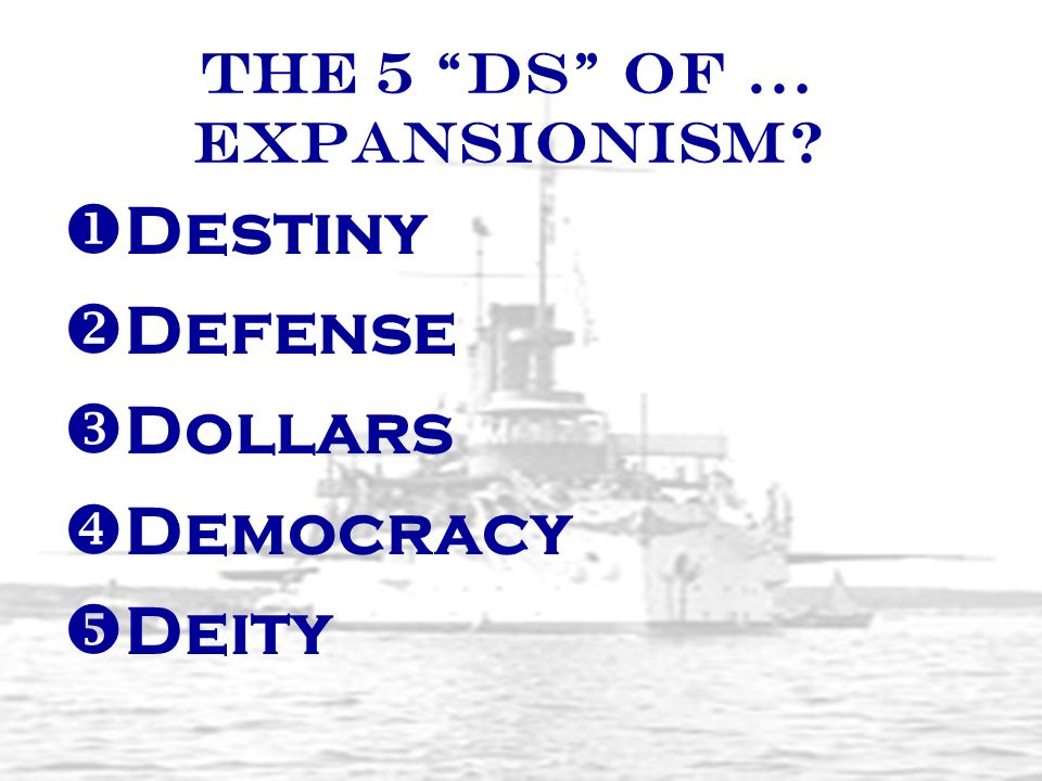The 5 Ds of … Expansionism