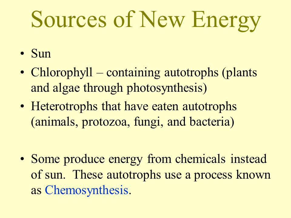 Sources of New Energy Sun