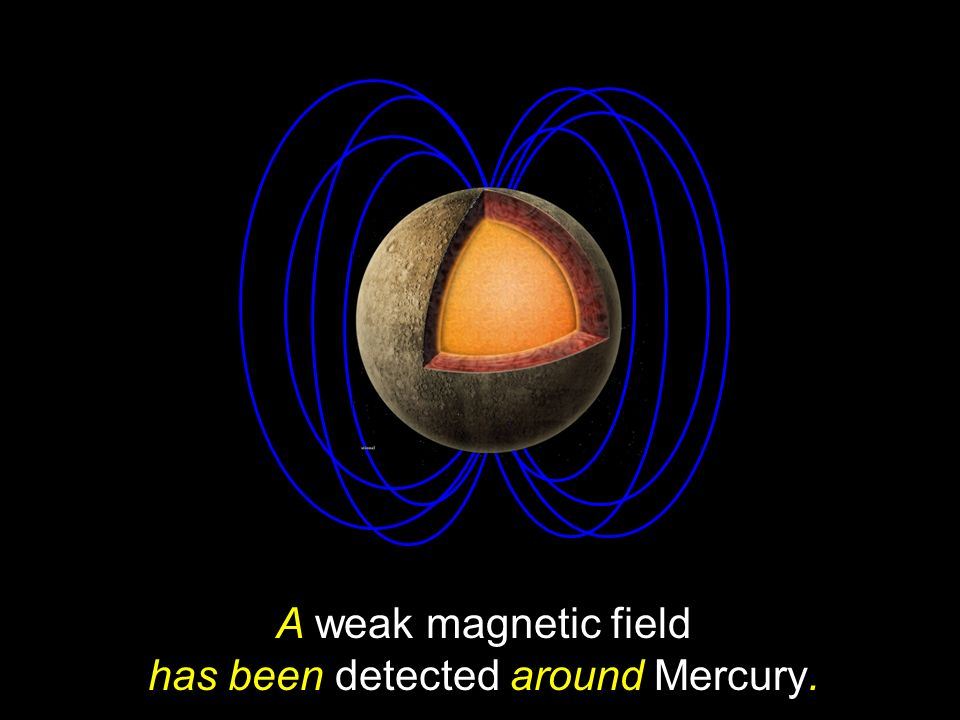 A weak magnetic field has been detected around Mercury.