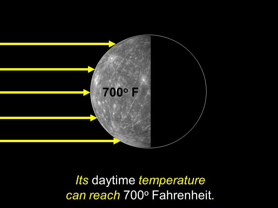 Its daytime temperature can reach 700o Fahrenheit.