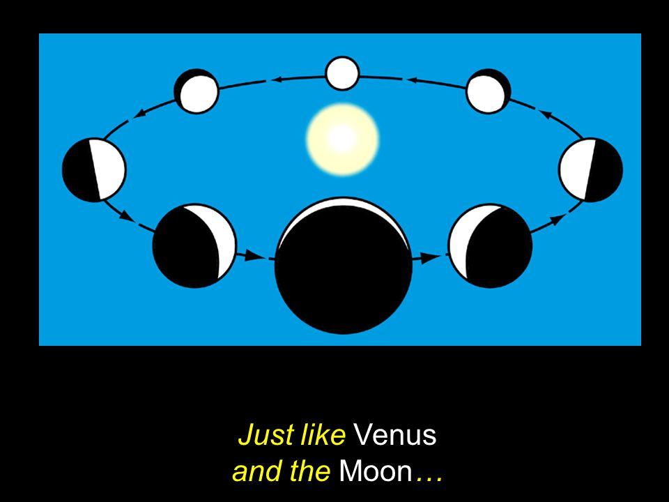 Just like Venus and the Moon…