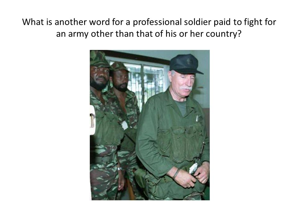 What is another word for a professional soldier paid to fight for an army other than that of his or her country