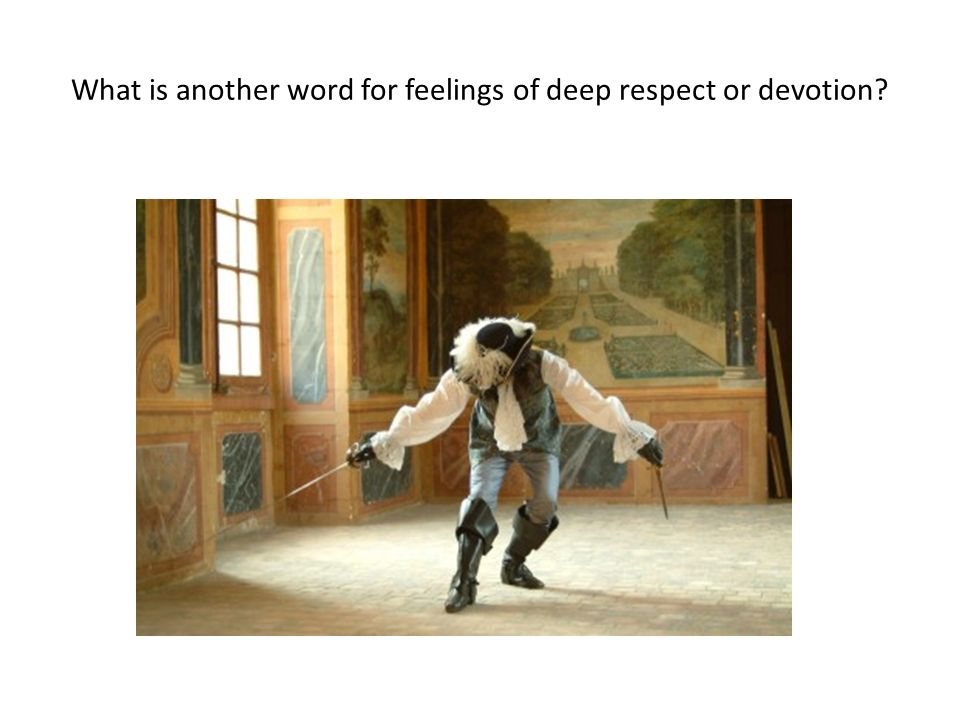 What is another word for feelings of deep respect or devotion