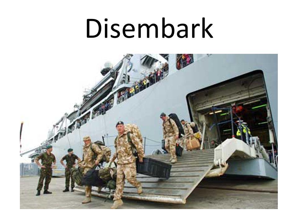 Disembark