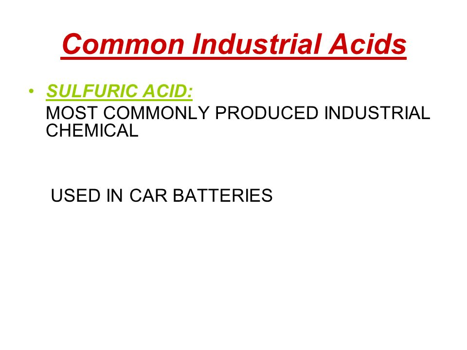 Common Industrial Acids