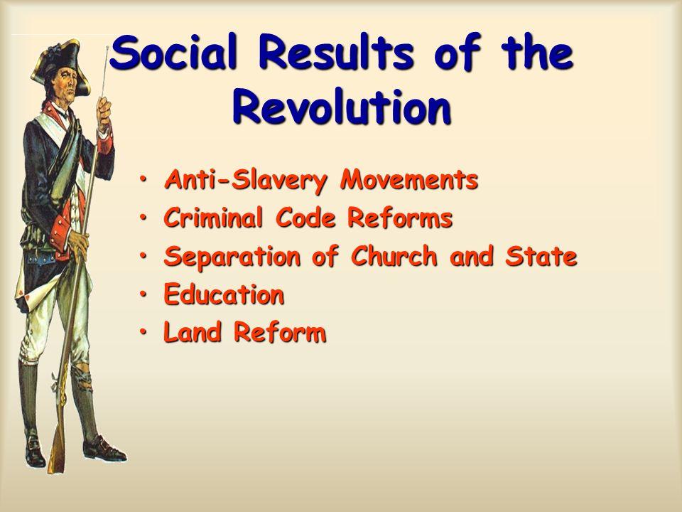 Social Results of the Revolution