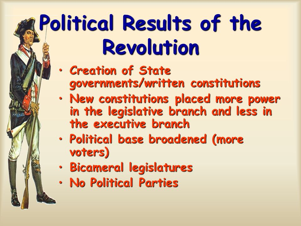 Political Results of the Revolution