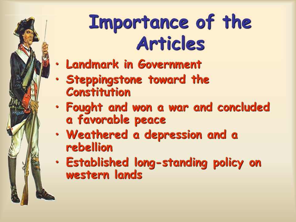 Importance of the Articles