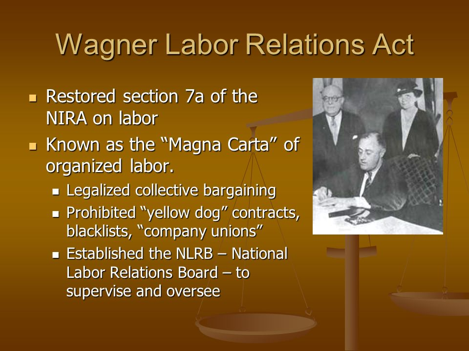 Wagner Labor Relations Act