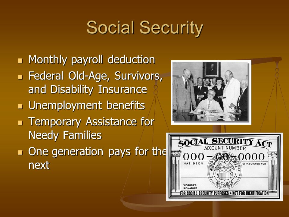 Social Security Monthly payroll deduction