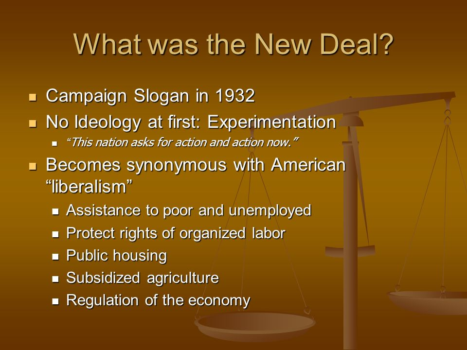 What was the New Deal Campaign Slogan in 1932