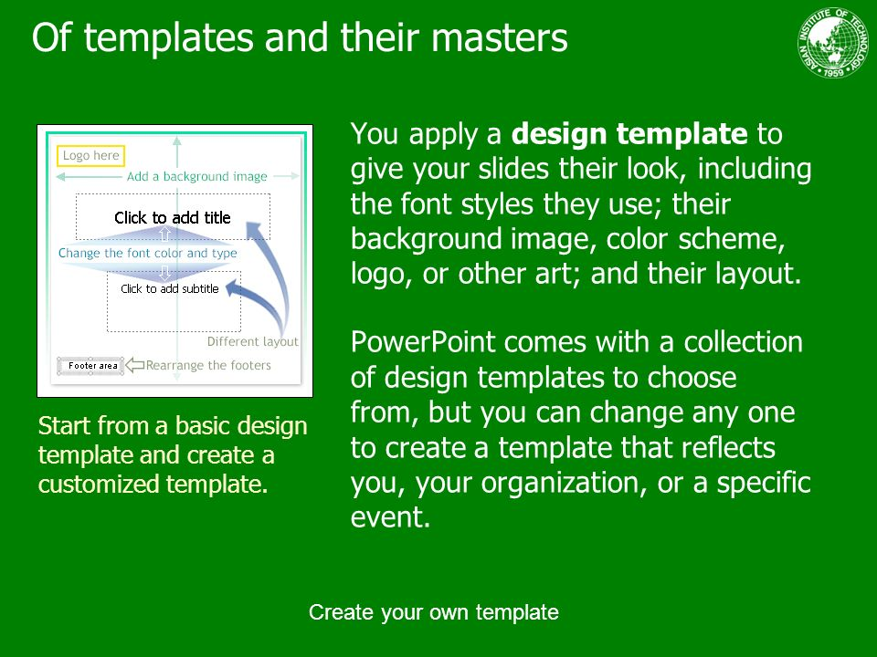 Create your own template ppt download 6 of templates and their masters you apply a design template toneelgroepblik Images