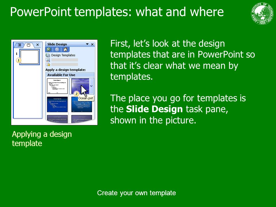 create your own template ppt download