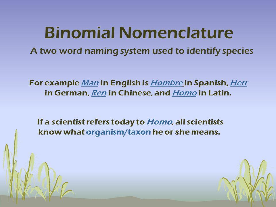 Binomial Nomenclature