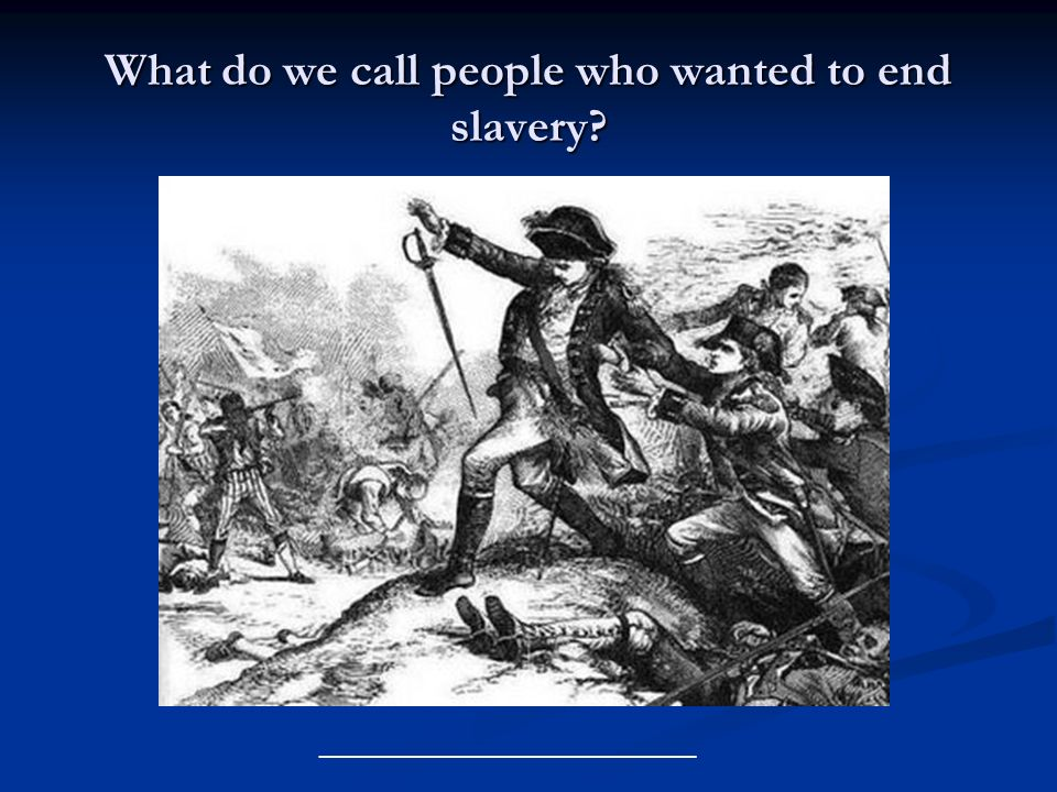 What do we call people who wanted to end slavery