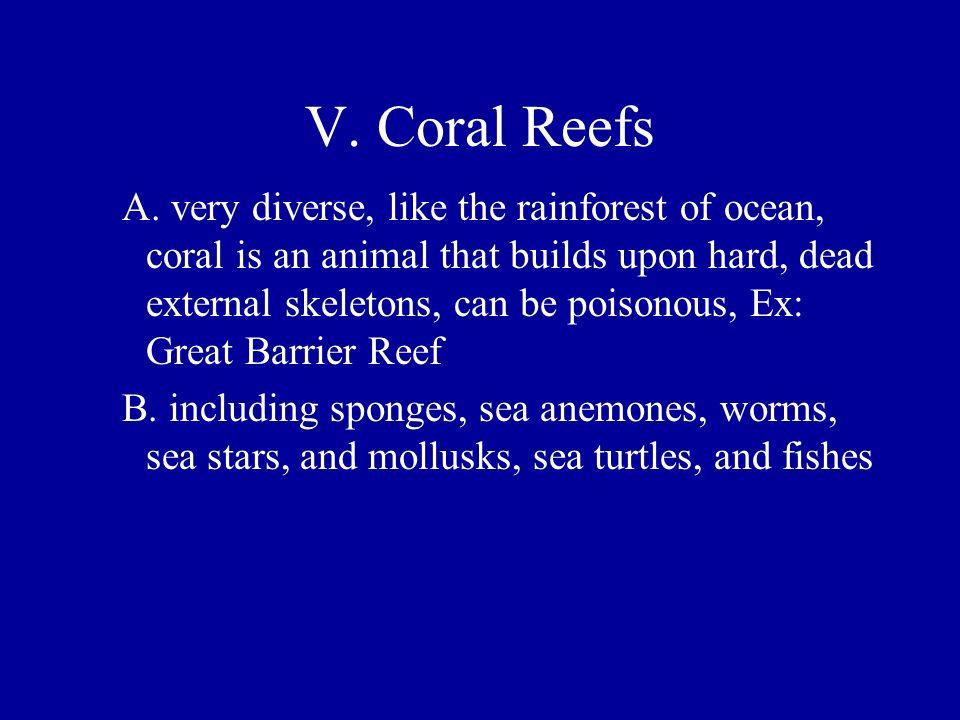 V. Coral Reefs
