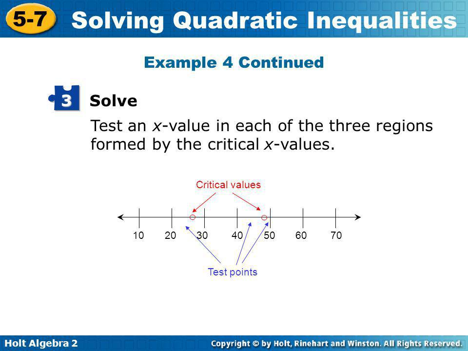 Example 4 Continued 3 Solve