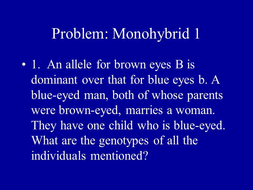 Problem: Monohybrid 1