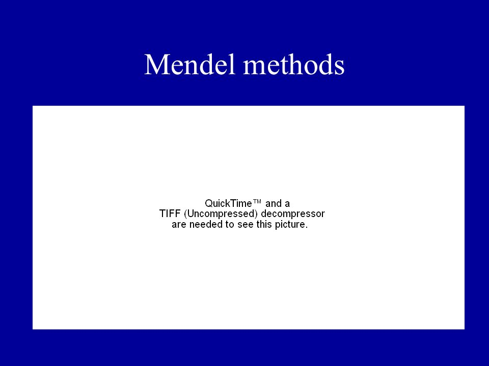 Mendel methods